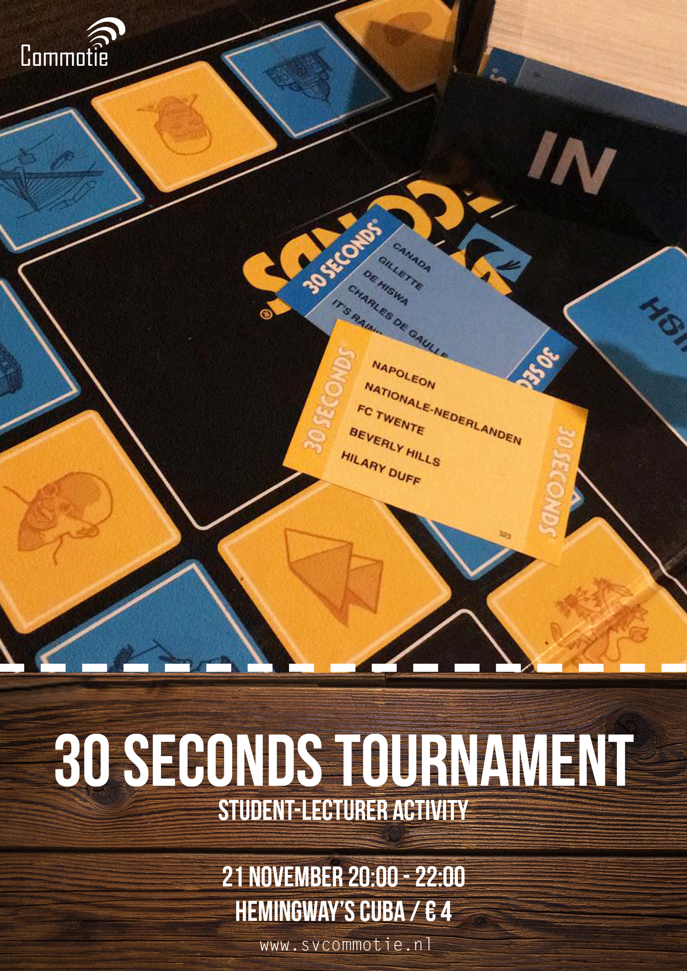 Student-lecturer activity: 30 seconds tournament