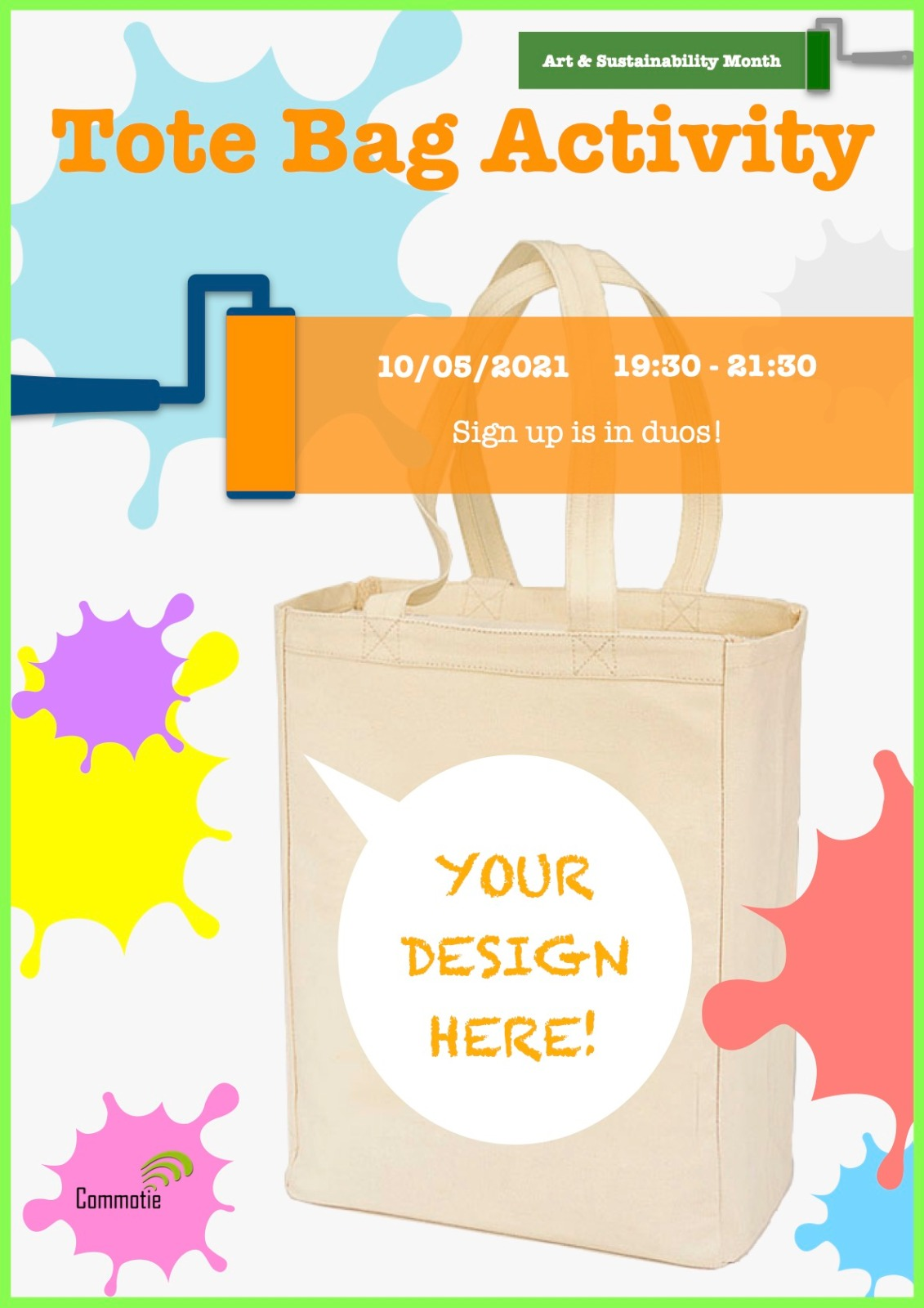 Sustainability Workshop: design your own tote bag!