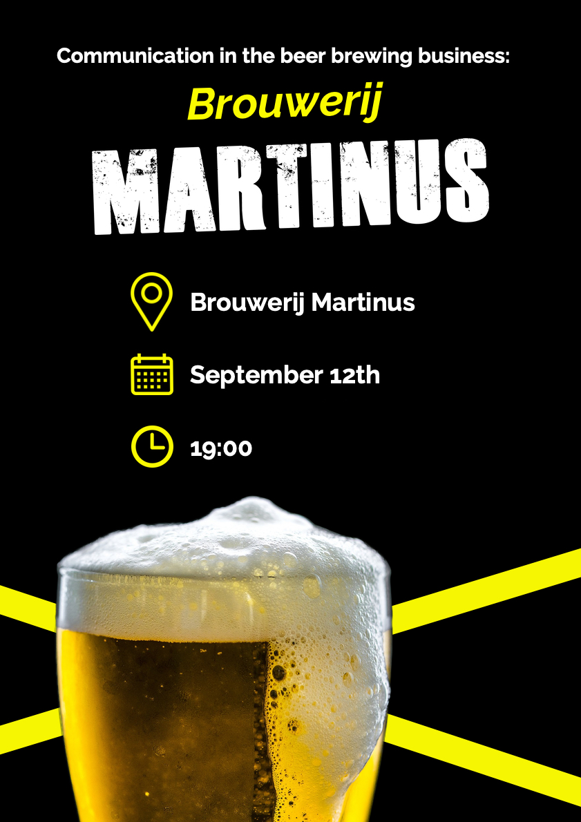 Communication in the beer brewing business: Brouwerij Martinus