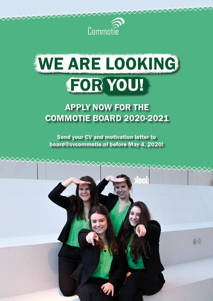 Online information session: Board year at Commotie